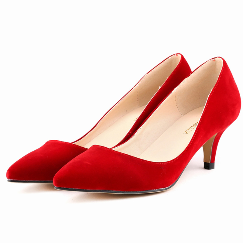 Red Shoes Low Heel