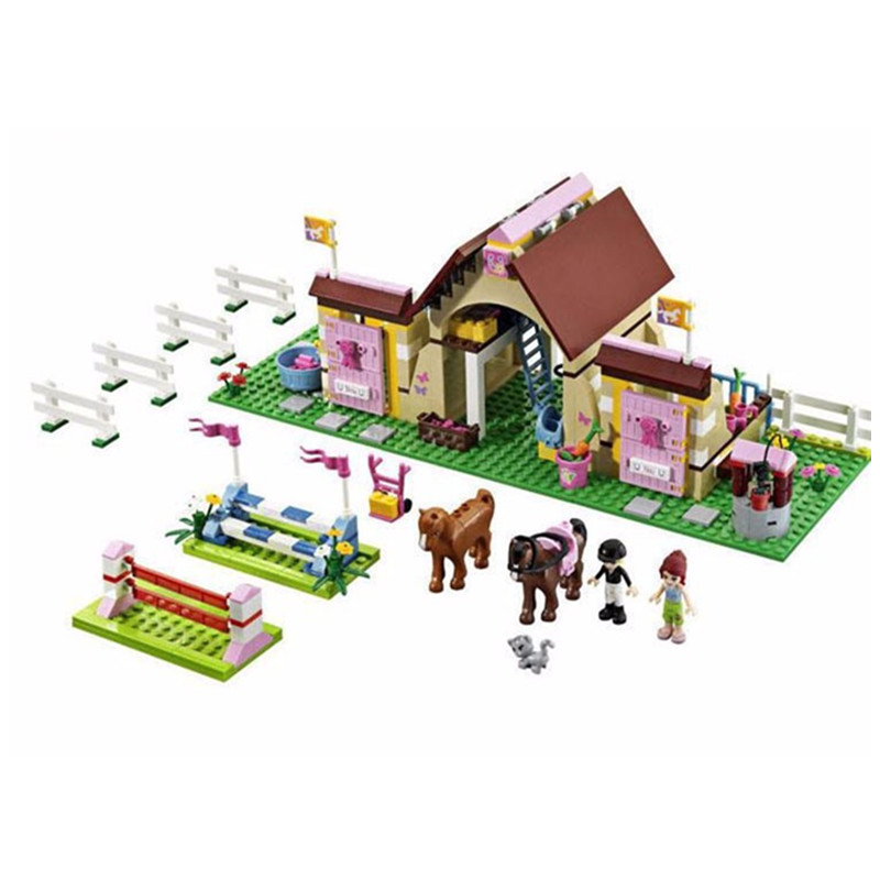 400pcs BELA 10163 Friends Series HeartLake Stables Mia's Farm Horse Building Blocks Sets Compatible with Girl's Friend Bricks(China (Mainland))