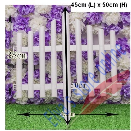45cm x 50cm Plastic Fences White Railing Fences European Country style Insert Ground For Garden Courtyard Decor Easily Assembled(China (Mainland))