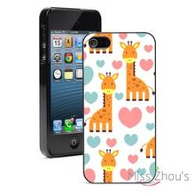 Giraffe Hearts Protector back skins mobile cellphone cases for iphone 4/4s 5/5s 5c SE 6/6s plus ipod touch 4/5/6