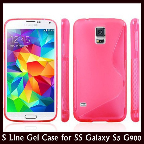 (1 piece/lot) Anti-skid S Line Soft TPU Gel Back Cover Case Samsung Galaxy S5 SV G900 +  -  Trends-Mall store