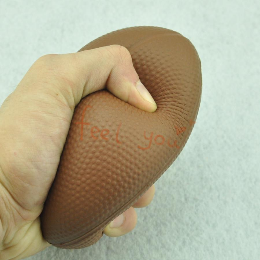 Foam Rubber Ball 1 X 4.72 inch Rugby Football Shape Hand Wrist Exercise Stress Relief Squeeze Soft - FunnyShopping123 store