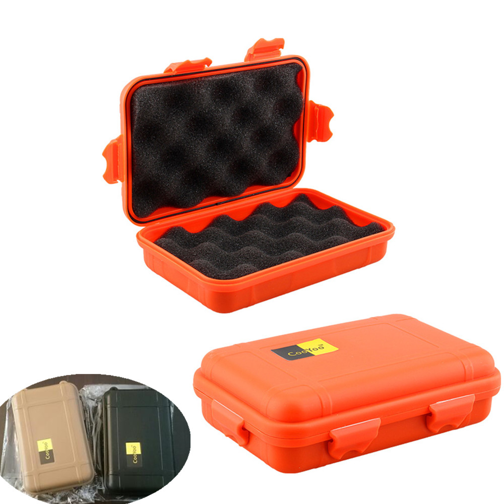 L/S Size Outdoor Plastic Waterproof Airtight Survival Case Container Camping Outdoor Travel Storage Box(China (Mainland))