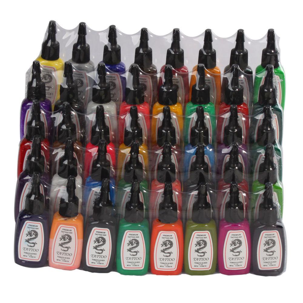 High Quality 1/2oz Tattoo Inks 40 Color Tattoo Kit Pigment Set CC04 Brazil<br><br>Aliexpress
