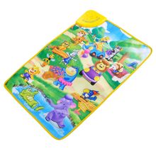 Learning Education Toy Russian Language Child Multifunction Touch Music Game Carpet Cartoon Animal Cognition Musical Flipchart(China (Mainland))