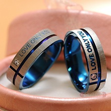 1 Piece!!! Stainless Steel Wedding Rings Band Korean Jewelry Couple Rings, his and hers promise ring sets For men and women(China (Mainland))