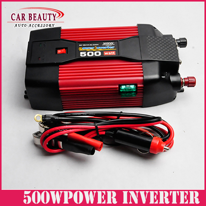 500W Car USB Charger Power Inverter Adapter DC 12V  to AC 220V For Car Auto DC 12 to AC 220 Modified Sine Wave <br><br>Aliexpress