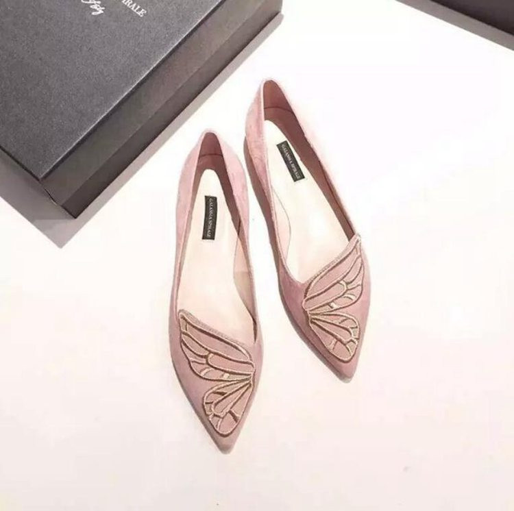 Fashion Butterfly Shoes Woman Flat Oxford Shoes For Women Black Pink Slip On Loafers Luxury Designer Shoes Ladies Flat Shoes (8)
