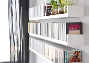 Фотография Furniture U-bracket shelf clapboard wall shelf TV backdrop decorative frame wood-based panels