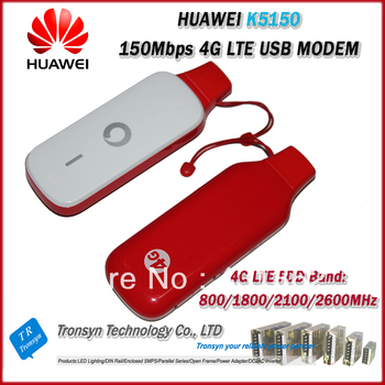 Original Unlock 150Mbps HUAWEI K5150 4G LTE USB Modem And 4G USB Data Card Support LTE FDD 2600/2100/1800/900/DD800Mhz
