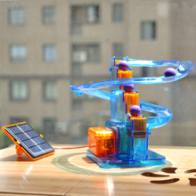 Ball moving! Creative solar toys diy children assembled scientific experiments favorite track ball solar toys kids free shipping(China (Mainland))