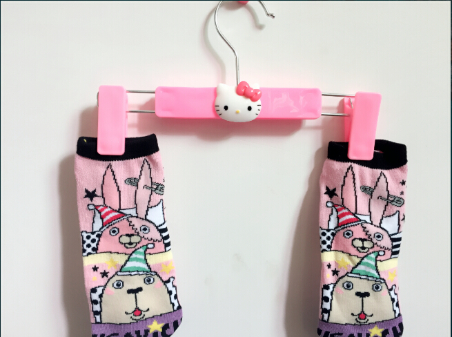 Kawaii Hello KItty Plastic Home Clothes Rack Clothing Rack Hanger Best For Underwear Sock(China (Mainland))