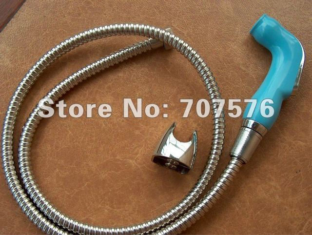 Low Freight Wholesale Handheld Sprayer Shower Diaper Washing Syringe TS078L-Br-SET Nozzle+braided hose+wall holder