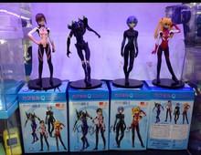 Free Shipping EVA Neon Genesis Evangelion Ayanami Rei Makinami Asuka PVC Action Figures Toys 4pcs/set KB0251