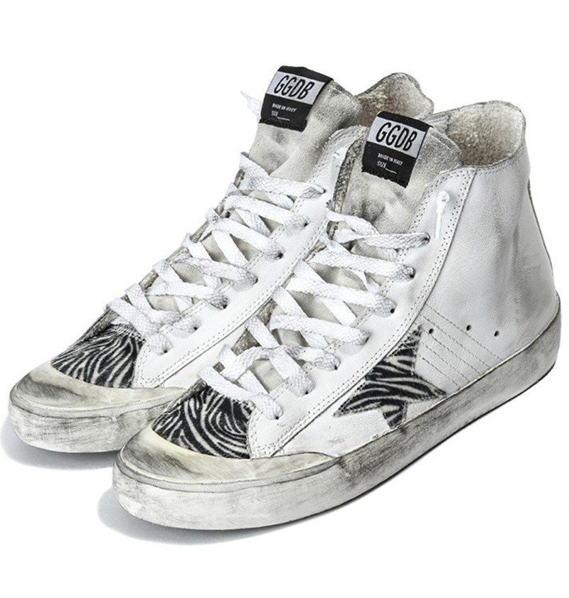 Italy Original Golden Goose Sneakers Fashion Do Old Style Women Men Superstar White Zip Flat With High Top GGDB Shoes Scarpa