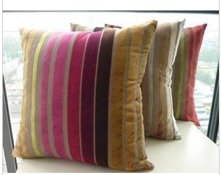 #708 Reverse Hot sale promotion colorful strip cushion cover pillow cover Freeshipping Min Order 4pcs