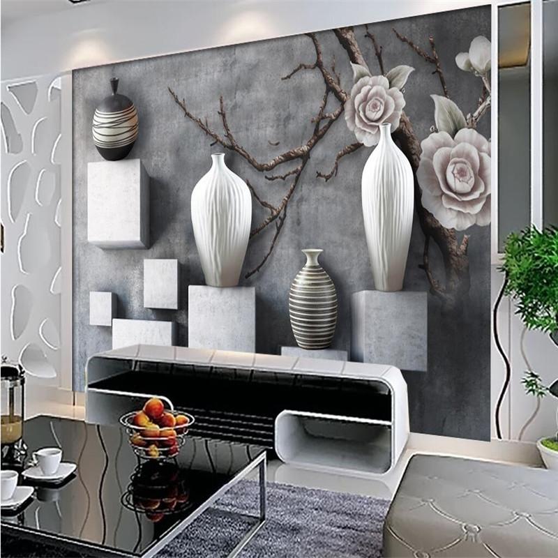 Grote muur vazen promotie winkel voor promoties grote muur vazen op - Grijs muurschildering ...