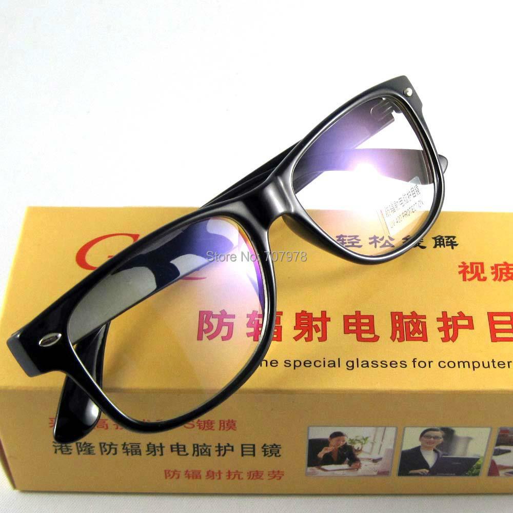 Computer Reading Glasses Clear Acrylic Lens UV Protect Anti-radiation Eyewear Bookworm Black Frame Retro Shade Point Oculos 8081(China (Mainland))