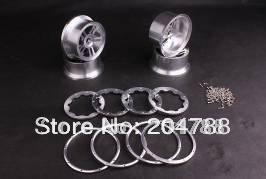 Baja rims, Baja 5B CNC Alloy Rims Set , 2pcs front and 2pcs rear, wholesale and retail(China (Mainland))