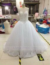 Liyuke Delicate Chiffon with Beading A-Line Wedding Dress Sleeveless Lace up Princess Bridal Dress Vestido De Noiva(China (Mainland))