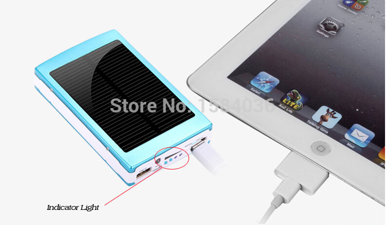 120000mAH Solar Charger 2 Port External Battery Pack Power Bank For Cellphone iPhone 4 4s 5 5S 5C iPad iPod Samsung Portable(China (Mainland))