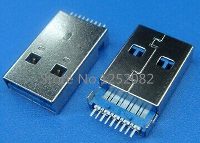 5 pcs USB 3.0 Type-A Male 9 Pin SMD 2 Pin DIP PCB installation Plug Connector<br><br>Aliexpress