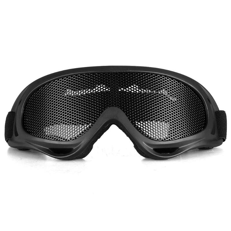 Tactical Glasses Motorcycle Airsoft Anti Fog Metal Mesh Big Goggles Eye Safety Protection Black gafas antivaho airsoft - Top Store ACE store