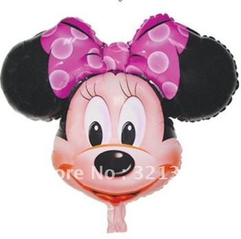 Free shipping Mickey and Minne mouse Aluminum Foil balloons , mylar balloons , party balloons, 100pcs a lot