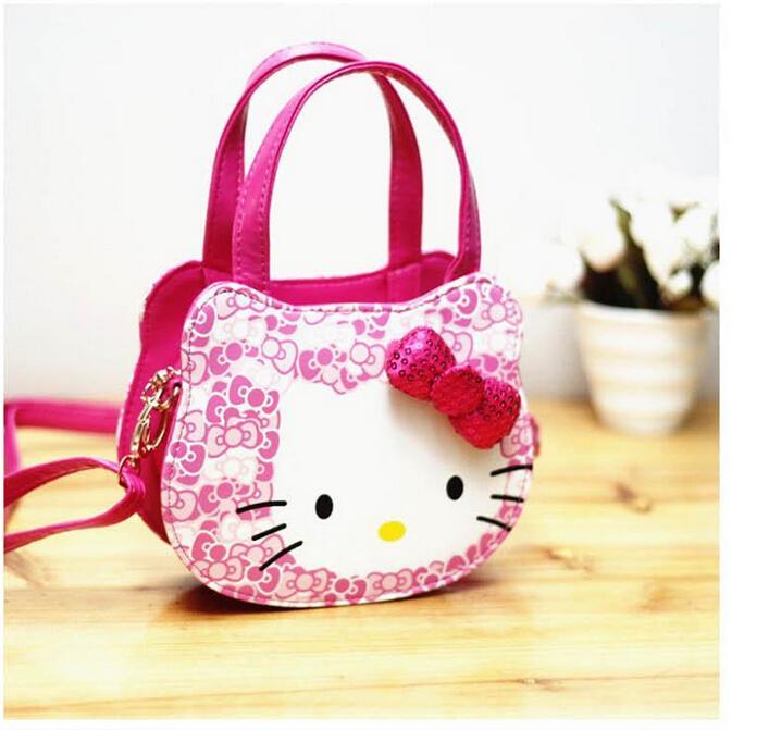 New 2016 Hello Kitty girl's princess bag wallet purse portable messenger children handbag in stock(China (Mainland))