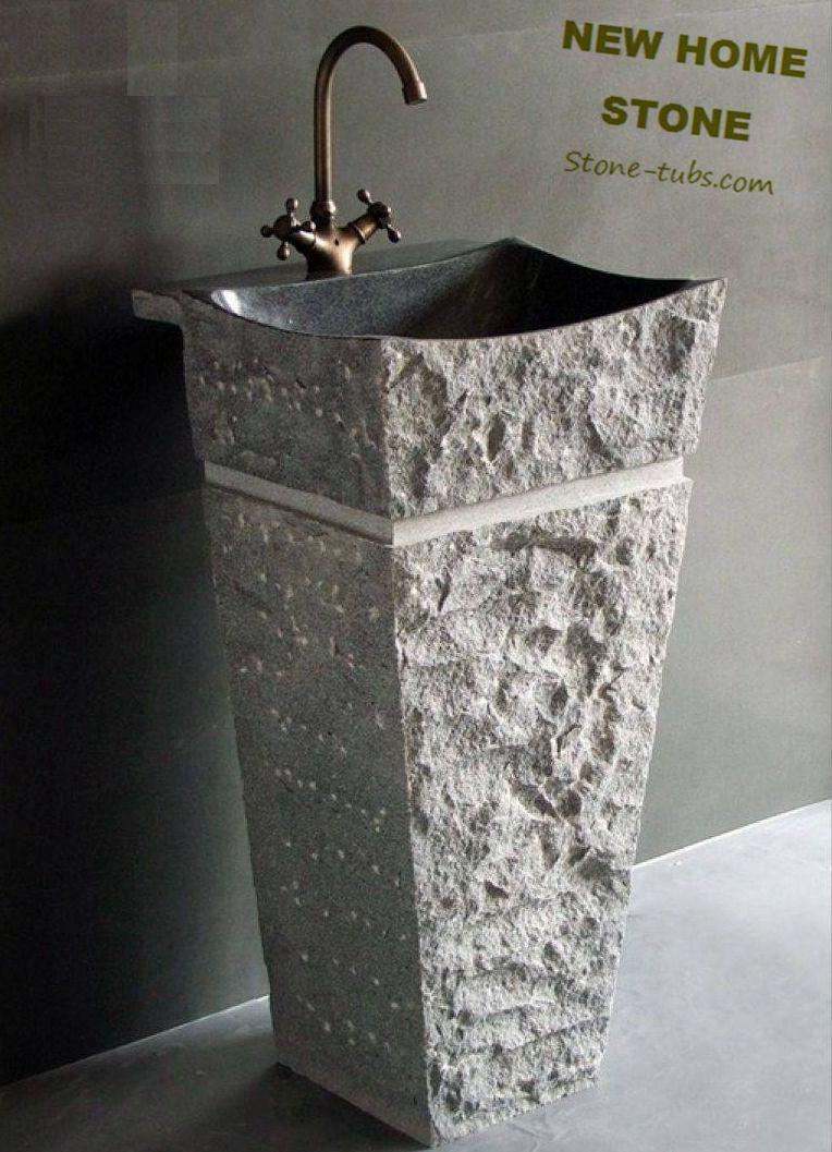 Natural Stone Sink Pedestal Magnificent