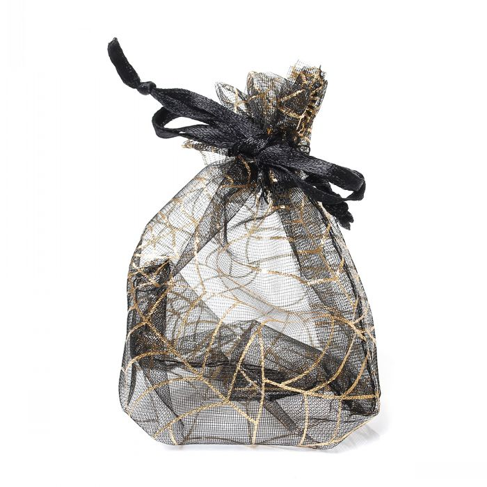 Retail Organza Drawable Wedding Gift Bags&Pouches Black Spider Web Pattern 11cm x 8.5cm,50PCs(China (Mainland))