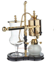 T gold/silver &white/black/brown wood water drop Royal balancing siphon coffee /belgium coffee maker syphon coffee brewer(China (Mainland))