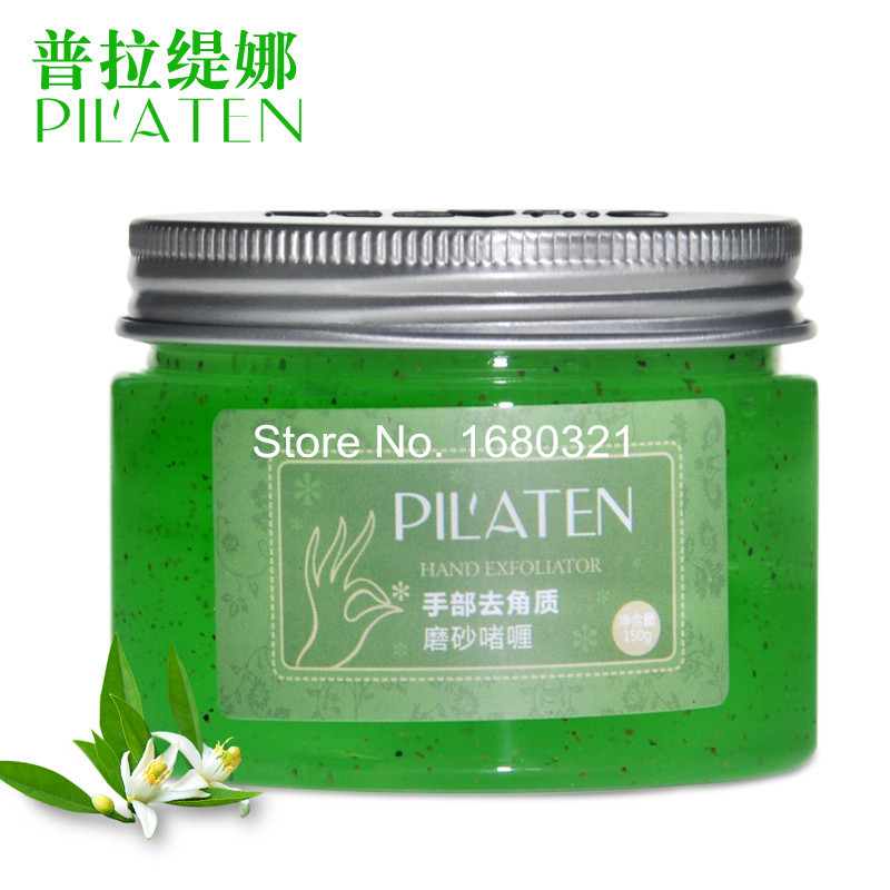 Free Shipping PILATEN Exfoliating Hand Gel, deep exfoliating, enhance nutritions, brighten and whiten hand skin care scrub,150g(China (Mainland))
