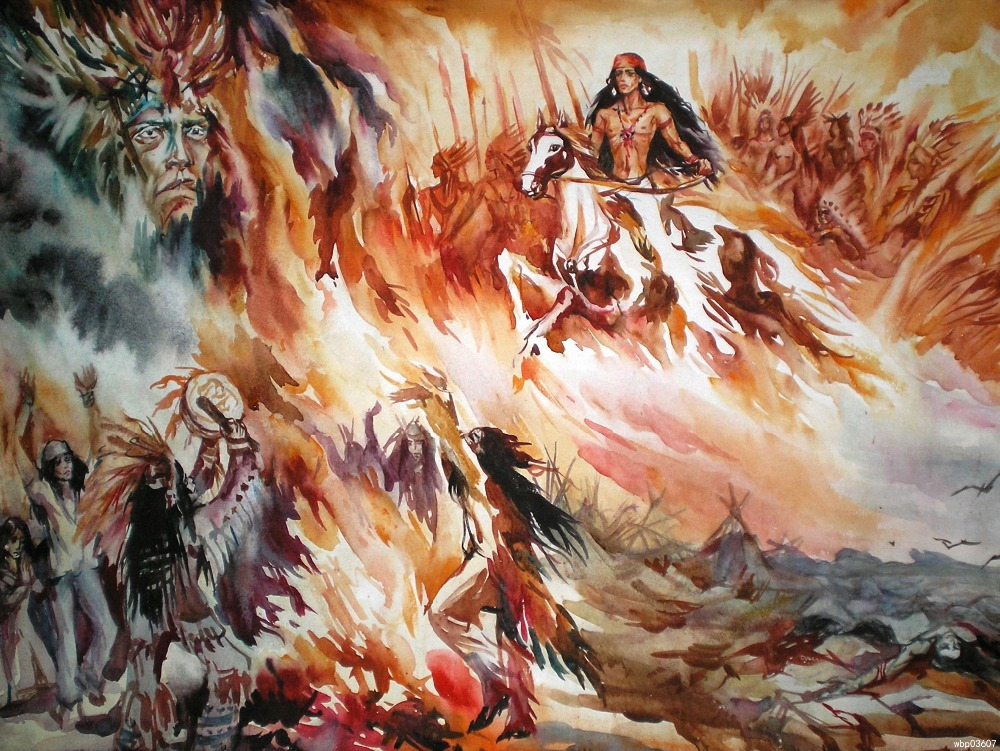 Shaman Art Prints Art Indians Printing Wall