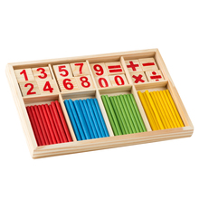 Montessori Wooden Number Math Game Sticks Box Educational Toy Puzzle Teaching Aids Set Materials(China (Mainland))