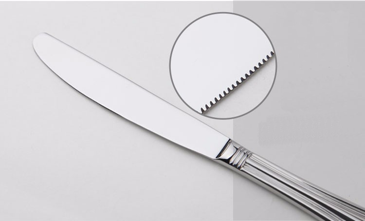 Buy Stainless Cutlery 24 Flatware Sets Silver Salad Luxury Restaurant Kitchen Wedding Dinner Beautiful Dinnerware Tableware Knife cheap
