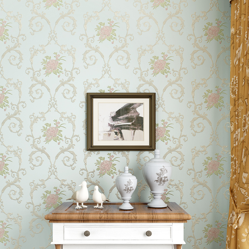 Vintage Classic European Modern Damask Feature Wall paper Roll For Living Room Bedroom papel de parede Wallpaper Rolls N322(China (Mainland))