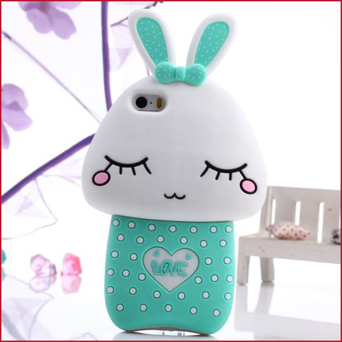 2014 New Products New Inventions Newest Mushroon Rabbit Case Love Rabbit Case for iPhone 5 5S France Free Shipping(China (Mainland))