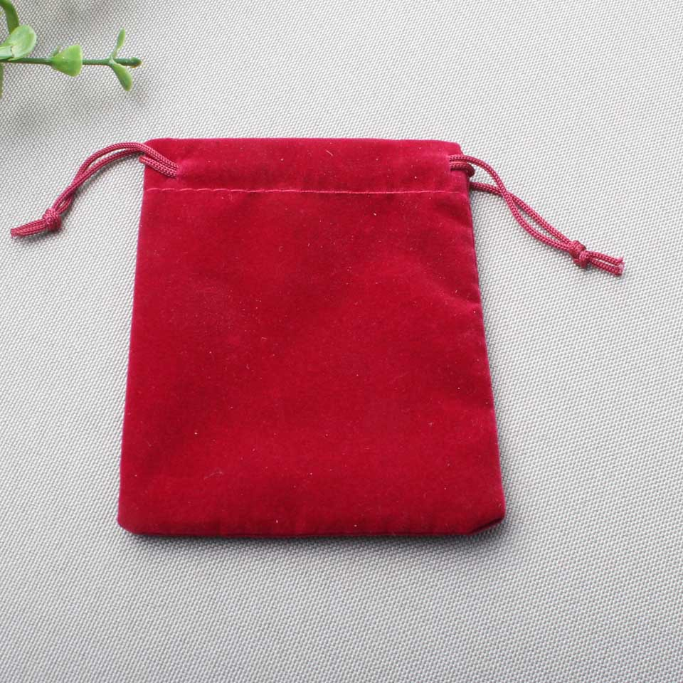 7x9cm Velvet jewelry Bag 9 color choices drawstring pouch Bag Christmas/Wedding Gift Bag 100pcs lot(China (Mainland))