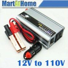10pcs 1000W 12V DC to 110V AC USB Car Truck Boat Power Inverter with USB 5V port #10199 @SD(China (Mainland))