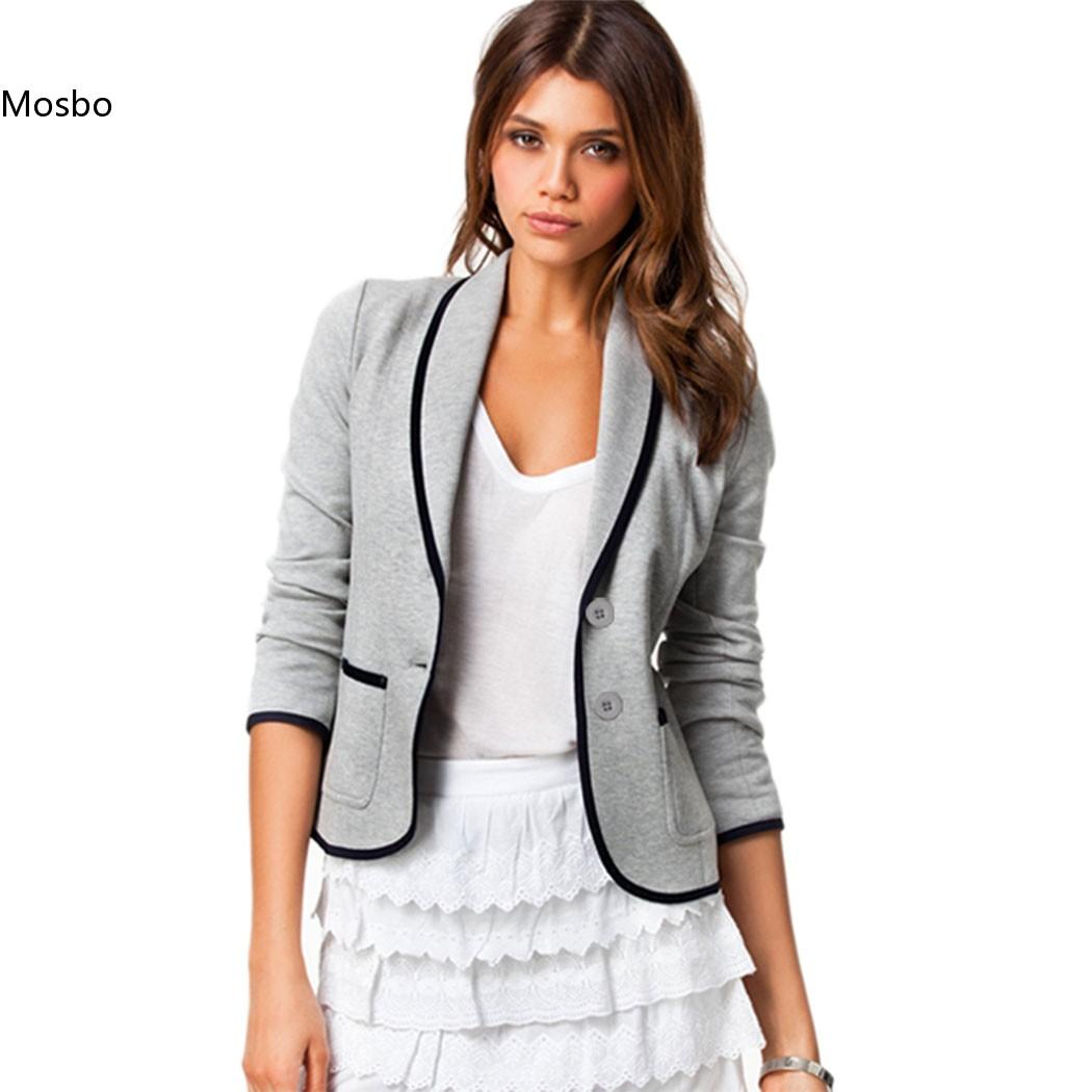 US Stock New Fashion Spring Autumn Women Short Blazer Turn Down Collar Slim Blaser Feminino Candy Color Jacket Coat Cargidans(China (Mainland))