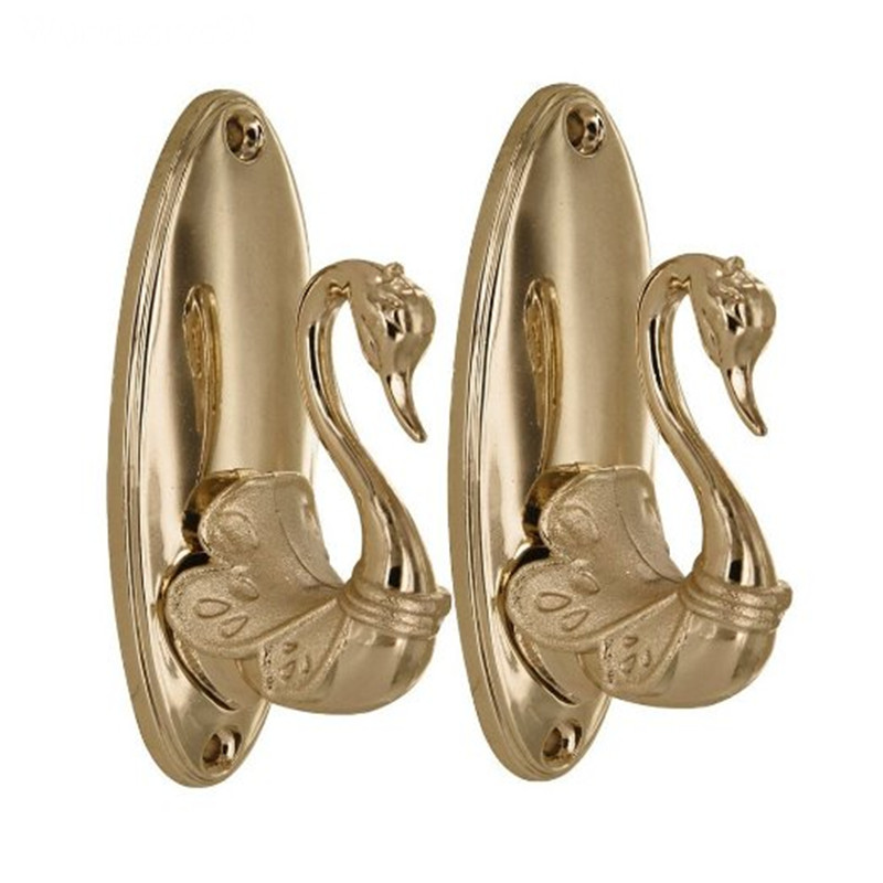 2016 Alloy Swan Curtain Tie Back Tieback Holders 8.3*4cm Wall Hooks Hanger Home Decor()
