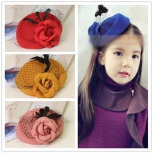 Buy Mini Hat Lace Flower Kids Girls Hair Clips Barrette Style Accessories Children Hair Hairclip Ornaments Hairpins Head Gifts for $2.98 in AliExpress store