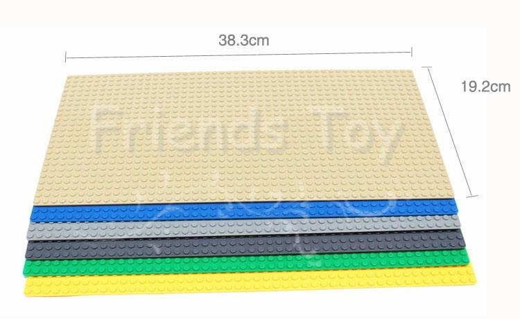38*19cm Baseplate For Small Blocks Particles 100% Compatible with Lego Minifigures Building Bricks Base Plate Toy Gift<br><br>Aliexpress