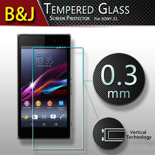 Ultra Thin 9H Tempered Glass Screen Protector Sony Xperia Z1 L39h Anti-shatter Protective Phone Film Package - Guangzhou B&J Trading Co., Ltd. store