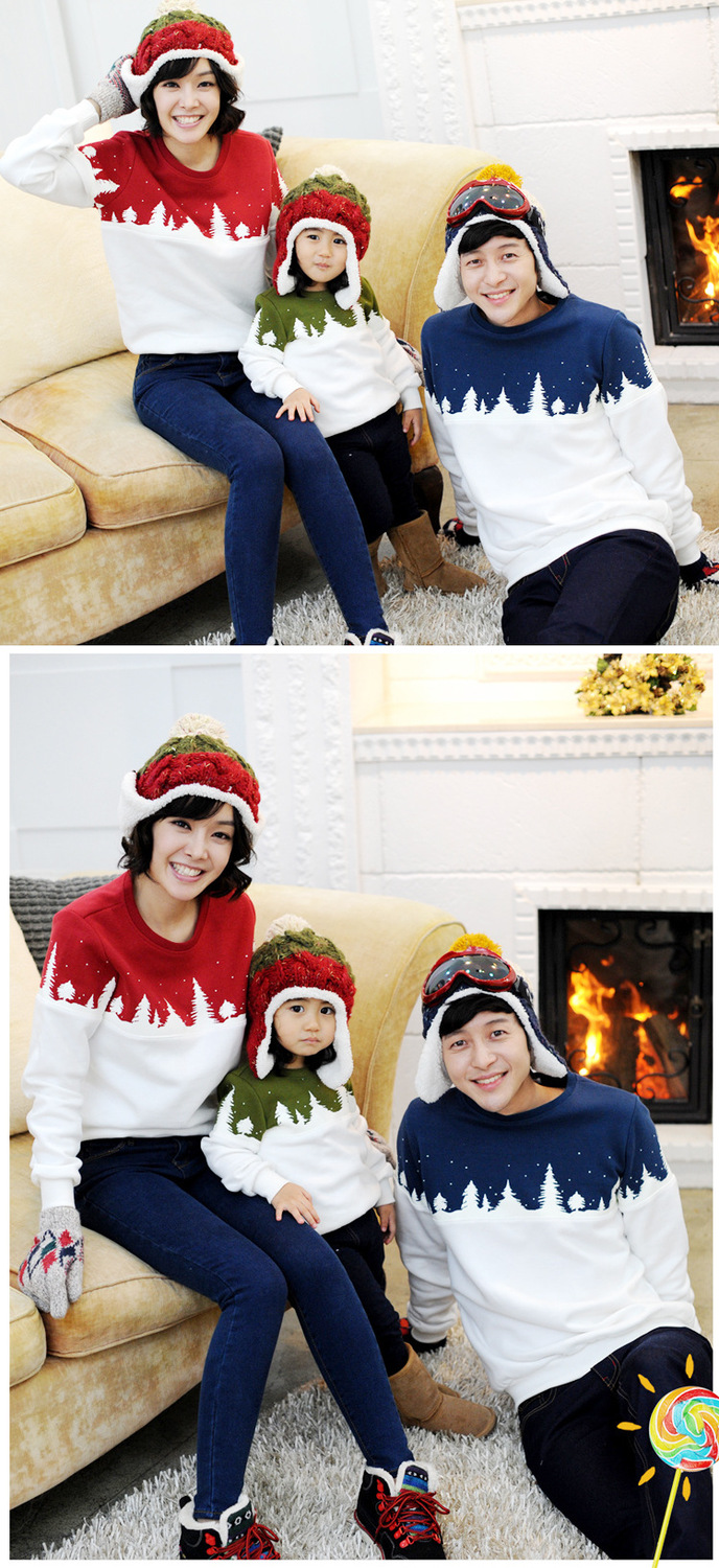 Free Shipping 2015 Family Christmas Cotton Warm Autumn Winter Mother Dad And Kids Long-Sleeve T-shirt Family Clothes Set  HTB19y3eGVXXXXc5XpXXq6xXFXXXt
