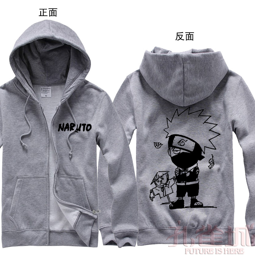 Naruto anime Autumn and winter sweatshirt kakashi a3 thickening zipper sweatshirt  Hot saleОдежда и ак�е��уары<br><br><br>Aliexpress