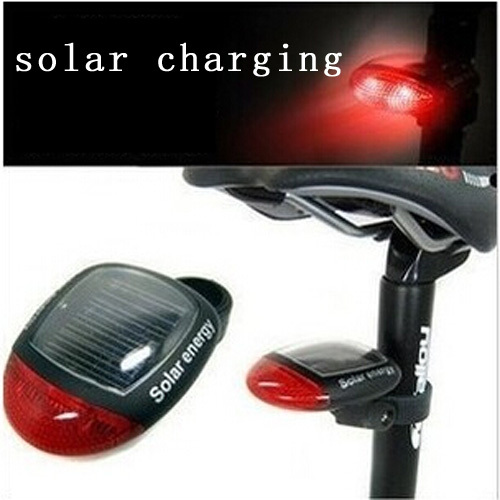 Bicycle Taillights new product solar charging bicycle rear light cushion lamp mountain bike safety warning lights Accessories(China (Mainland))