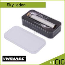 Wismec Skyladon Mod mecánica con 510 primavera cargado todo acero inoxidable construcción magnética botón de fuego Campatib