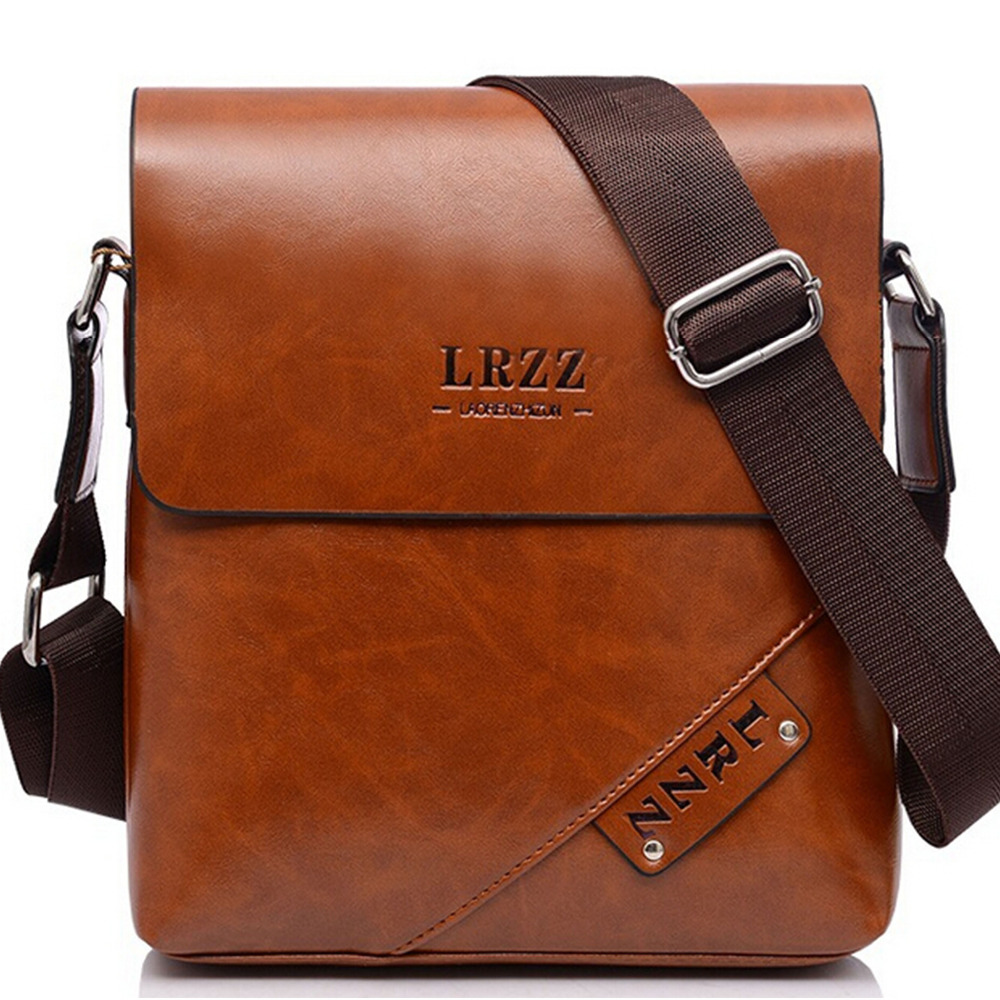 Leather shoulder bags for men